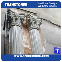 Artificial Columns Translucent Stone for Buildings