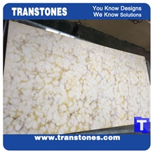 Beige Cotton Flower Artificial Marble Stone