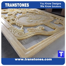 Carved Faux Stone Tiles for Interior Decorations