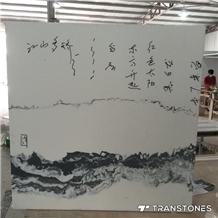 Landscape Painting Faux Onyx Sheet