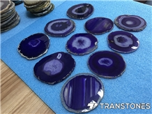 Purple Agate Translucent Natural Stone for Decors