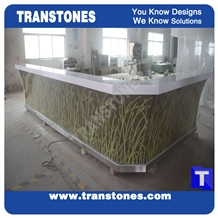 Translucent Faux Acrylic Stone for Commerical Top