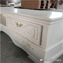 White Faux Alabaster Stone for Table Tops