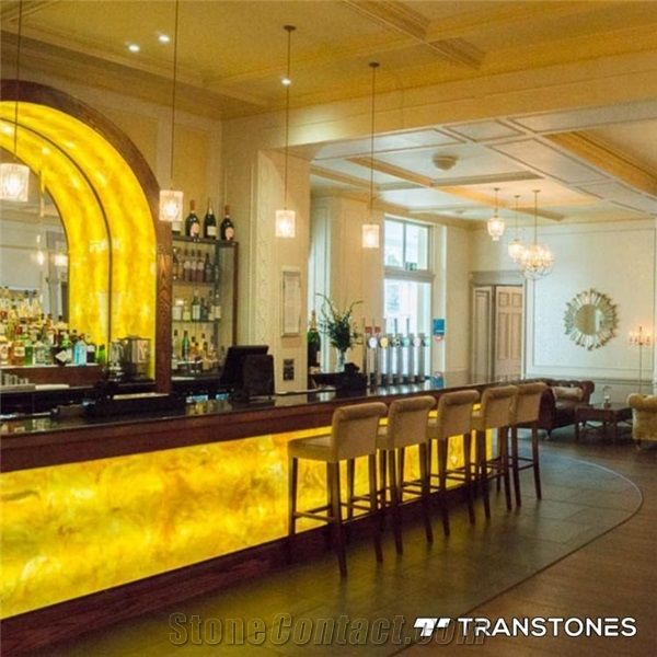 Yellow Onyx Faux Alabaster Stone Bar Counter Top from ...