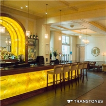 Yellow Onyx Faux Alabaster Stone Bar Counter Top