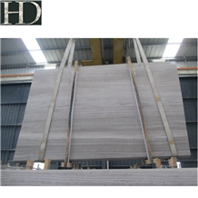 China Chenille White Wood Grain Marble Slab & Tile