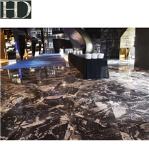 China Titanium Black Gold Cloud Granite Slab &Tile