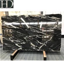 Chinese Titanium Mc Cosmic Black Granite Slab Tile