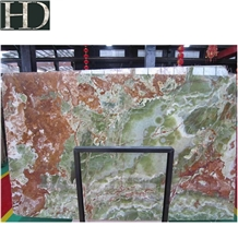 Multicolor Green Onyx Slabs & Tiles