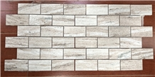 Palissandro Brown Brick Mosaic Tiles