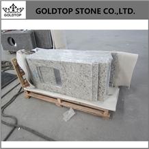Brazil Ornamental White Granite Prefab Countertop