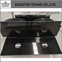 Indian Absolute Black Prefab Granite Bath Tops