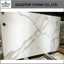 Italy Calacatta Statuary White Marble Slabs
