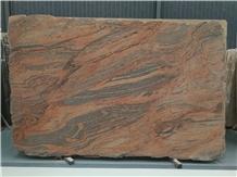 Multicoulor Red Granite Slab