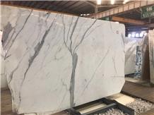 Super White Stone Calacatta Marble Slabs