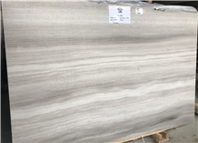White Wooden Grain M014 Marble Big Slabs 1.8cm