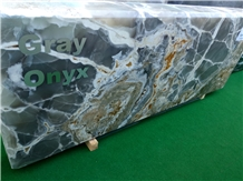Persian Golden Gray Onyx Blocks