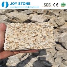 Chinese Yellow Granite Cube Stone Pavers G682