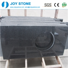 G654 Kitchen Dark Grey Polished Granite Countertop