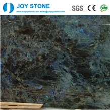 Luxury Polished Lemurian Blue Granite Big Slabs
