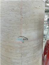 Beige Traverine Columns, Building Porch Pillars