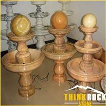Customized Polishing Garden Floating Ball Fountain