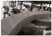 Grey Granite Garden Pool Landscaping Curved Pillar