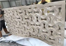 Unltraman Beige Marble Hollow Carve Partition Wall