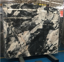 Sunny Gray Back Fantasy Jungle Black Marble Slabs