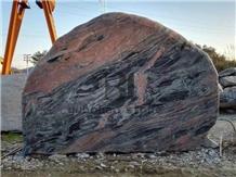 Garden Decor,China Multicolor Red Granite Rock