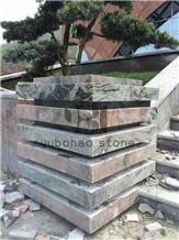 Multicolor Red Granite Lowe Stepping Stones, Stair