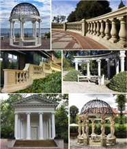 Architectural Roman Column and Raillings