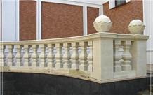 Balcony Fence Railing Natural Limestone Baluster