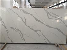 Calacatta White Bathroom Quartz Stone Slabs 4028