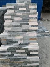 Chinese Cheap Gray Slate Ledge Stone Wall Decor