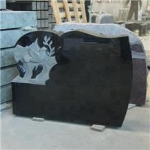 Good Absolute Black Granite Tombstones