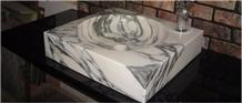 Honed Arabescato Arni Marble Rectangle Sinks Basin