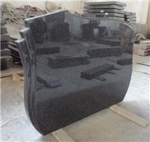 India Black Granite Western Style Headstones