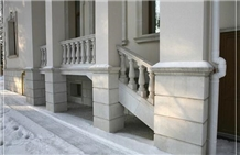 Natural Limestone Outdoor Balcony Fence Railing