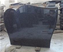 Nero Impala Granite Single Tombstone