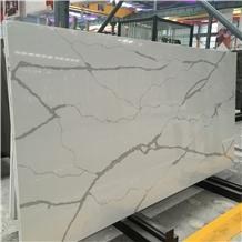 Polished Calacatta Kitchen Quartz Stone Slabs 4022