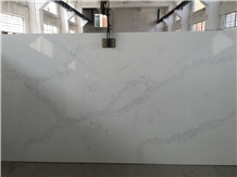 Polished Chinese Calacatta Quartz Stone Slabs 4018