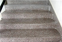 Polished Majestic Mauve Granite Steps Tiles