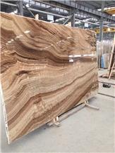 Polished Teak Wood Marble Slabs for Walling Tiles