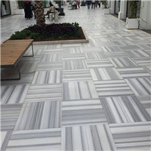 Polished Tureky Eqvator White Marble Flooring Tile
