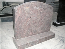 Red Granite Upright Monuments