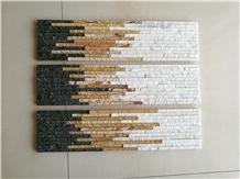 Three Color Ledge Stone Wall Decor Panel