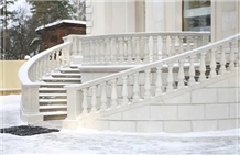 White Limestone Terrace and Staircase Balustrade