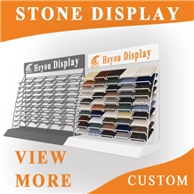 The Portable Marble Stone Wooden Display Rack