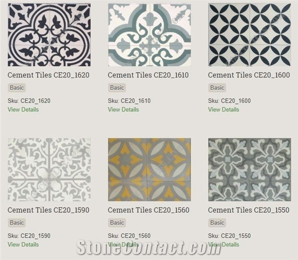 Cement Tiles, Terrazzo Tiles from Morocco - StoneContact com